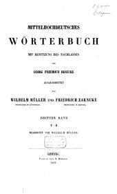 Mittelhochdeutsches Wörterbuch: Band 4
