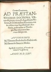Carmina gratulatoria ad ... D. Aug. Neserum, et D. Mich. Bentzium