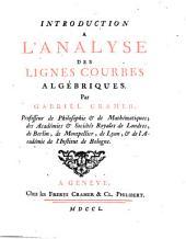 Introduction à l'analyse des lignes courbes algébriques