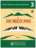 BCCM Horizons The New Conservatory Series Grade 3 Studies for Piano PDF