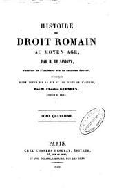 Histoire du droit romain au moyen-âge: Volume3