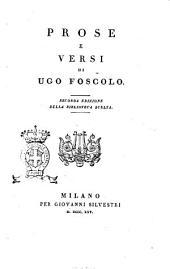 Prose e versi di Ugo Foscolo