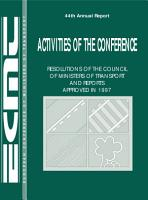Activities of the Conference  Resolutions of the Council of Ministers of Transport and Reports Approved 1997 PDF