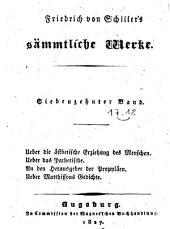 Sämtliche Werke: Ueber die ästhetische Erziehung des Menschen, Band 17