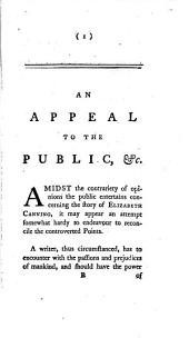 An appeal to the public, in behalf of Elizabeth Canning: Volume 3