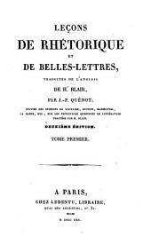 Leçons de rhétorique et de belles-lettres: Volume1