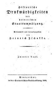 Historische Denkwürdigkeiten der helvetischen Staatsumwälzung: 2