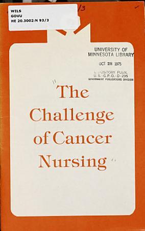 The Challenge of Cancer Nursing PDF