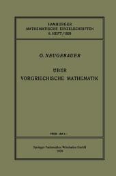 Über Vorgriechische Mathematik