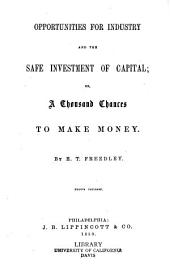 Opportunities for industry and the safe investment of capital: or, A thousand chances to make money
