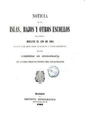 Noticia de las islas, bajos y otros escollos descubiertos durante el año de 1861: segun las que han llegado a conocimiento de esta Direccion de Hidrografía con algunas otras de interes para los navegantes