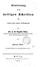Einleitung in die heiligen Schriften des alten und neuen Testaments: Band 2