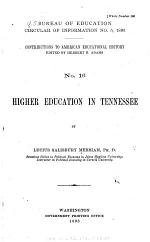 Circular of Information of the Bureau of Education, for