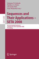 Sequences and Their Applications - SETA 2008