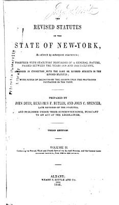 The Revised Statutes of the State of New York  as Altered by Subsequent Enactments PDF