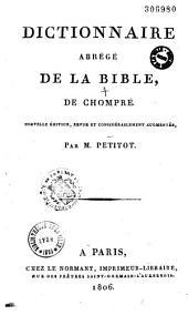 Dictionnaire abrégé de la Bible, de Chompré