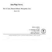 Area Wage Survey: St. Louis, Missouri-Illinois, metropolitan area
