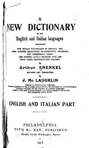 A New Dictionary of the English and Italian Languages PDF