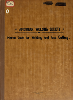 American Welding Society Marine Code for Welding and Gas Cutting