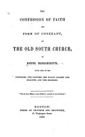 The Confession of Faith and Form of Covenant of the Old South Church PDF