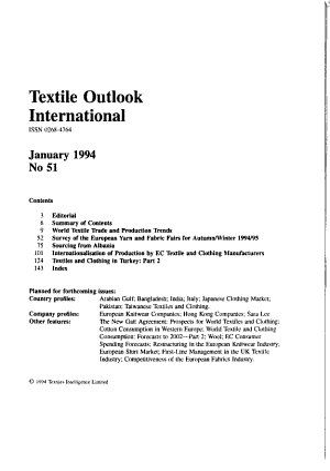 Textile Outlook International PDF