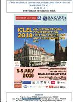 4 th International Conference on Lifelong Education and Leadership for ALL ICLEL 2018 PDF