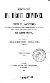 Histoire du Droit Criminel