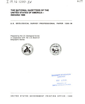 The National Gazetteer of the United States of America  Indiana  1988 PDF