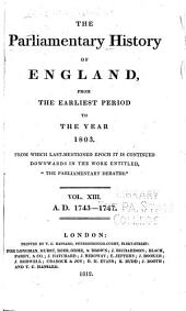 "Cobbett's Parliamentary History of England: From the Norman Conquest, in 1066, to the Year, 1803. From which Last-mentioned Epoch it is Continued Downwards in the Work Entitled: ""Cobbett's Parliamentary Debates""., Volume 13"