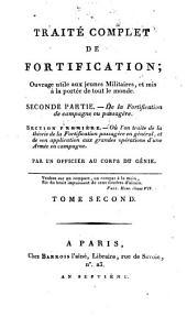 Traité complet de fortification: 2,1. De la fortification de campagne ou passagère. 1. Ou l'on traite de la théorie de la fortification passagère en général et de son application aux grandes opérations d'une armée en campagne. - 1806. - 280 S. : 36 Kt