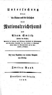 Untersuchung über die Natur und die Ursachen des Nationalreichthums