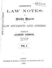 Law Notes: Volume 1