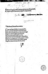 Roberti Gaguini [...] de origine et gestis Francorum perq[uam]utile compendium