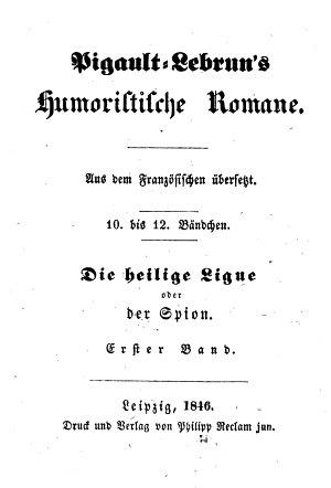 Die heilige Ligue  oder  der Spion PDF