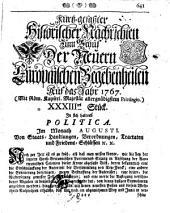 Kurtz-gefaßte historische Nachrichten zum Behuf der neuern europäischen Begebenheiten: Band 60