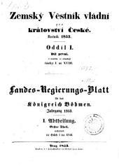 Landes-Gesetz- und Regierungs-Blatt für das Kronland Böhmen: Svazek 1