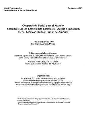 Cooperaci  n Social Para El Manejo Sostenible de Los Ecosistemas Forestales