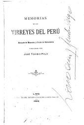 Memorias de los virreyes del Perú: marqués de Mancera y conde de Salvatierra