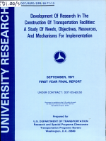 Development of Research in the Construction of Transportation Facilities PDF