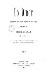Lo Didot: comedia en tres actes y en vers