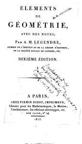 Éléments de géométrie, avec des notes