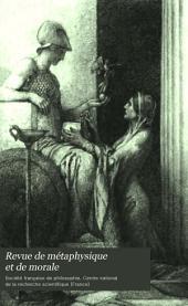 Revue de métaphysique et de morale: Volume3
