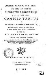 Josephi Mariani Parthenii De vita et studiis Hieronymi Lagomarsini e Societate Jesu