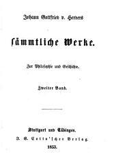 Johann Gottfried v. Herder's sämmtliche Werke in vierzig Bänden: Bände 27-28