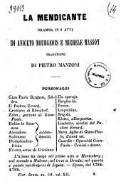 La mendicante dramma in 5 atti di Aniceto Bourgeois e Michele Masson