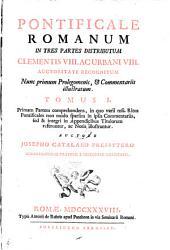 Pontificale Romanum ... Clementis VIII. ac Urbani VIII. auctoritate recognitum ... a Josepho Catalano (etc.)