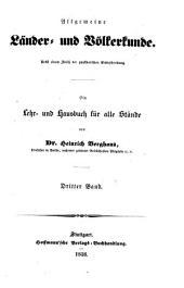Allgemeine Länder und Völkerkunde: Band 3