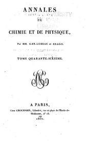 Annales de chimie et de physique: Volume46