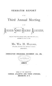 Verbatim Report of the ... Annual Meeting of the American Street-Railway Association