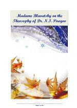 Madame Blavatsky on the Theosophy of Dr. N.I. Pirogov